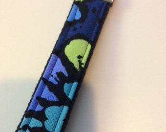 Key Fob Wristlets in Vera Bradley Indigo Pop Fabric