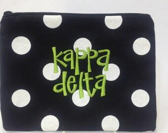 Kappa Delta Fabric Makeup Bag