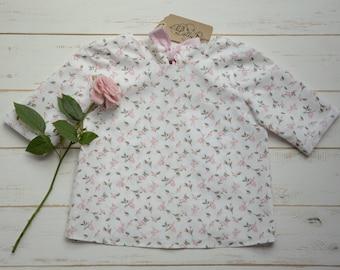 Baby Girls Blouse Flower Printing