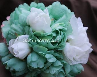Mint Green Lace Bouquet