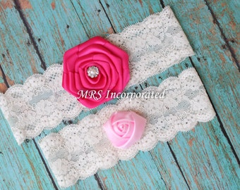 Fabric Flower Bridal Garter