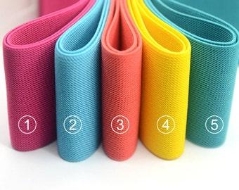 3 inch , 75mm Wide Colored Double-side Twill Elastic Band // Waistband Elastic //Heavy Duty Elastic // Sewing Elastic- 1 Yard