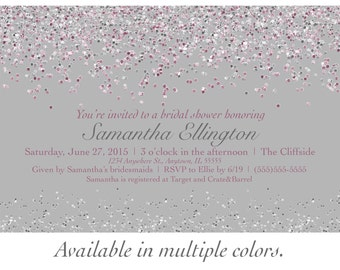 Sparkle Bridal Shower Invitation - with multiple color choices