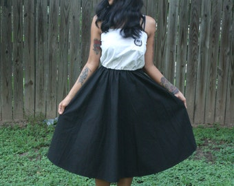 Retro Black and White Vintage Styled Dress