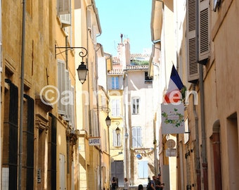 Street in Aix-en-Provence, France. Print