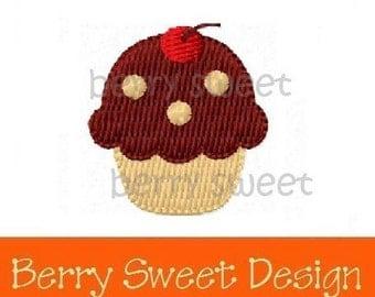 cherry cupcake machine embroidery design