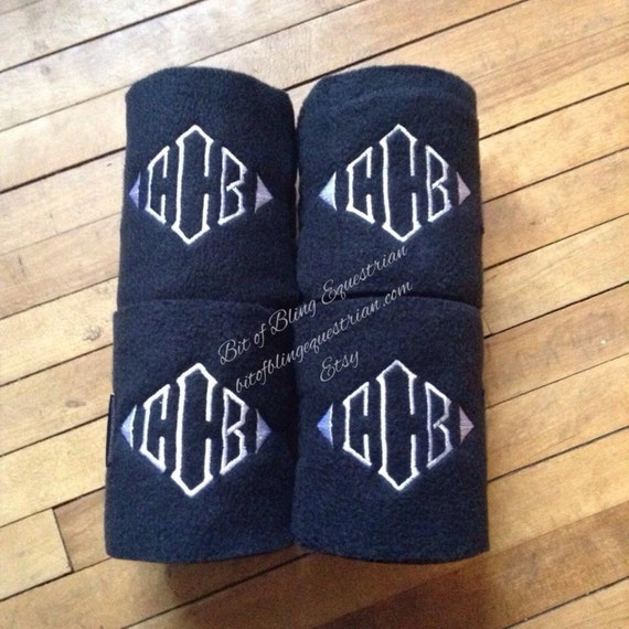4 Custom Monogrammed Polo Wraps