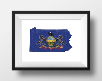 Pennsylvania - Ink Roller Style Print