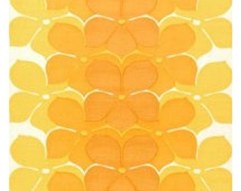1970s ORIGINAL MOD MINIMALIST ** Wallpaper Orangecicle Floral Dream Vintage