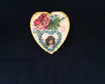 Vintage Heart Shaped Valentine