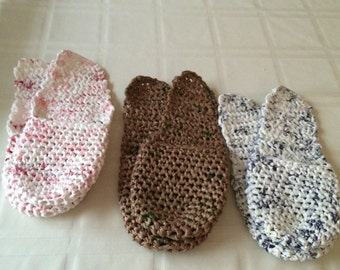 Slippers made from Recycled Grocery Bags