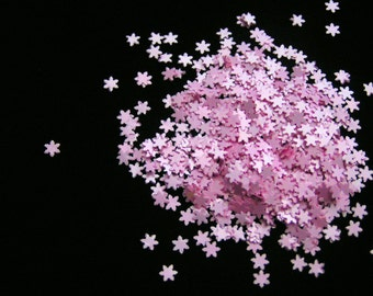 solvent-resistant glitter shapes-pastel pink snowflakes