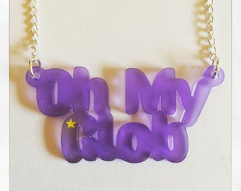 Adventure Time Inspired Lumpy Space Princess Oh My Glob Acrylic Necklace