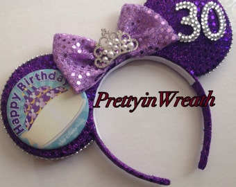 Birthday inspired Mickey Mouse ears headband