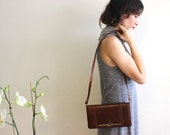 Vintage Brown Leather Bag, Women Shoulder Purse, Everyday Tote, Messenger Satchel Hobo Fashion Crossbody Handbag , Envelope Clutch Purse