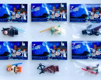 Mini Figure INCLUDED custom Party Favor Lego Star Wars Themed Custom birthday bag