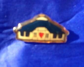 Vintage house shaped pin/badge