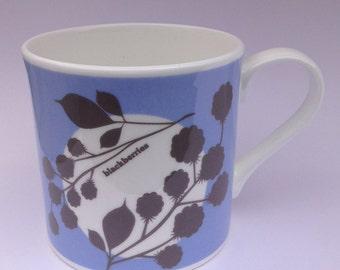 Blackberries | Cornwall Hedgerow | Fine Bone China Mug | Alison Bick
