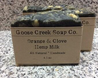 Orange & Clove Hemp Milk Soap