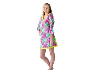 Women's monogram tunic, beach cover-up, summertime, limited time