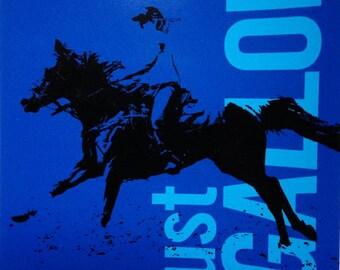 Just Gallop Sticker, Western Riding Sticker