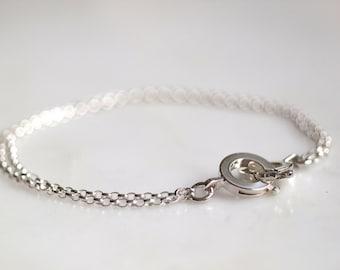Handcuff Style Bracelet - Sterling Silver Bracelet