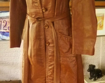 Vintage 70's Leather Coat