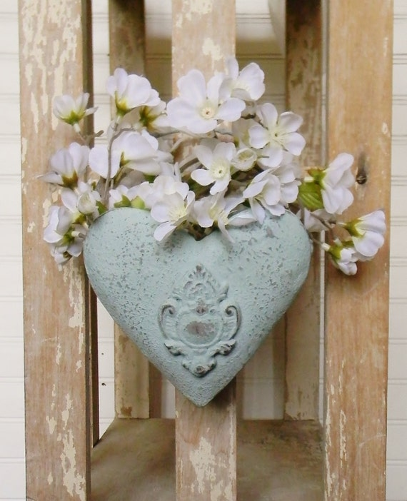 Decorative Wall Pockets Metal : Metal wall pocket heart shaped by
