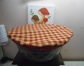 Reusable Fabric Casserole Bowl Cover Set of 2/ fits 8x8 and  10x10 Temptations Round Casserole Bowl/Washable/Dryable/Elastic Edge/Choice of