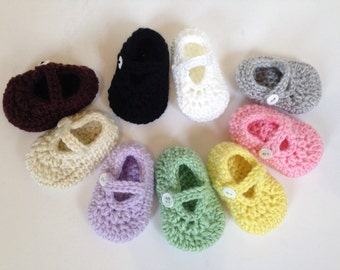 Newborn Booties, Baby Girl Shoes, Mary Jane Shoes, Newborn Mary Janes