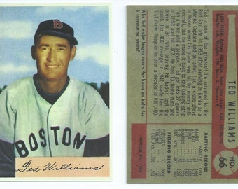1954 Bowman Ted Williams RP (last Bowman card) #66 SP version Value over 8000