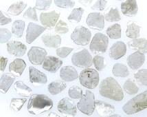 White Slice Faceted Polki Loose Natural Diamond 2 Ct Scoop