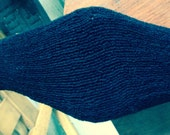 Custom 50 inch black leather girth for Kari