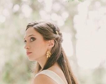 Gold Leaf Bridal Hair Pins Bridal Bobby Pins Bridal Hair Clips Bridal Hair Accessories Woodland Bride Woodland Weddings Nature Accessories