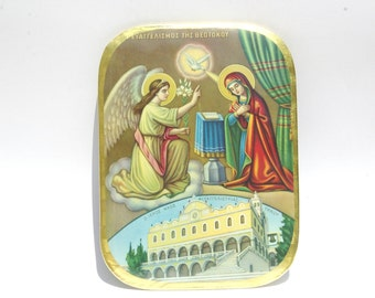 Annunciation, Orthodox  Icon, Religious Art, Christian Wall Decor, Religious Metal Icon, Orthodox Icon, Religious Wall Hanging