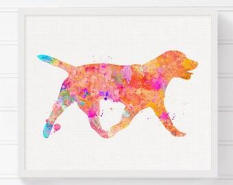 Labrador Dog Art, Dog Art Print, Dog Wall Decor, Dog Wall Art, Dog Painting, Watercolor Dog, Colorful Dog, Kids Room Decor, Nursery Wall Art