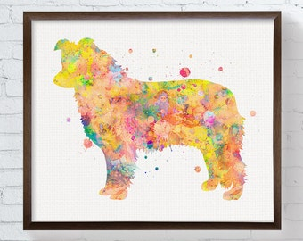 Watercolor Border Collie, Border Collie Art, Border Collie Print, Border Collie Painting, Dog Wall Art, Dog Lover Gift, Dog Poster, Colorful