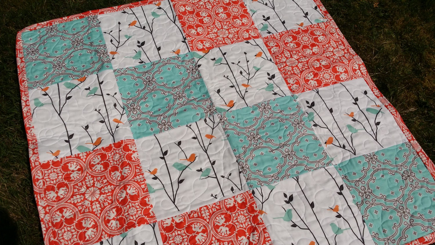 Baby quilt Modern Baby quilt Baby Quilts Nursery bedding