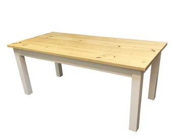 Nantucket Farmhouse Table with Natural Top