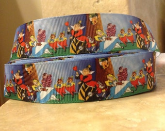 5 YDS Alice in Wonderland Landscape Ribbon