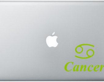 Cancer Zodiac Sign Laptop Decal