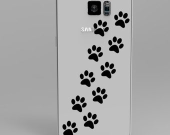 Paw Prints Phone Cover Decal
