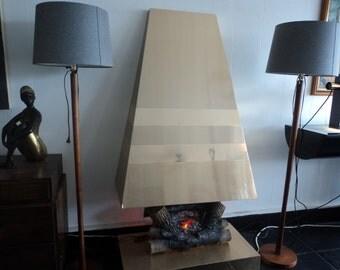 mid century modern Paul Evans inspired fake fireplace