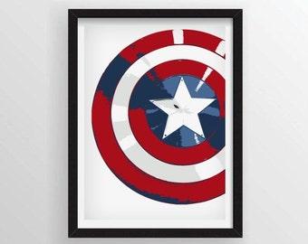 8.5 x 11 Captain America Minimal Poster