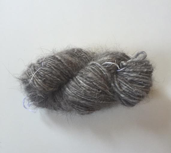 Pure Angora Yarn Medium Skein Hand Spun Yarn By