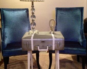 Repurposed Vintage Suitcase Side Table