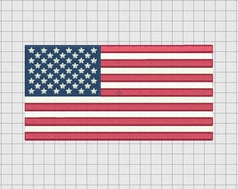 USA United States of America Flag Embroidery Design in 4x4 and 5x7 Sizes