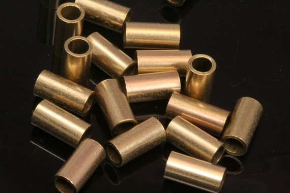 Raw brass tube 30 pcs 5 x 5 mm (hole 4 mm) industrial brass charms,findings raw brass spacer bead bab4