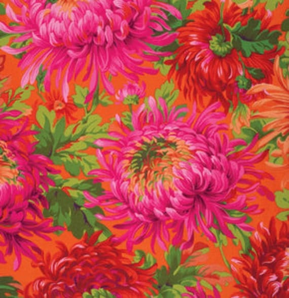 SHAGGY RED PJ072 by Philip Jacobs for Kaffe Fassett Collective Sold in 1/2 yd increments