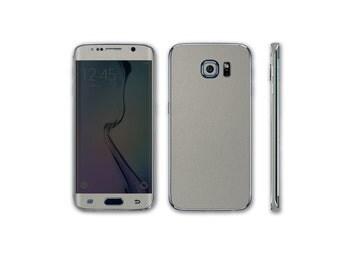 Samsung Galaxy S6 Edge Full Body Wrap DECAL Sticker Skin Kit Metal Series by Stickerboy-Set1